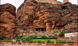 THE CAVE TEMPLES AT BADAMI